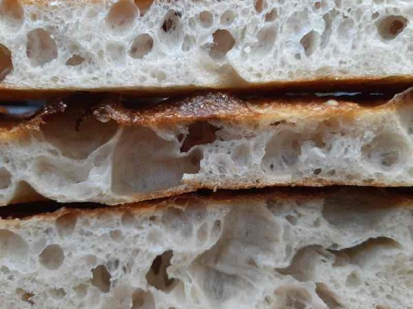 Flour Water Salt Sourdough Focaccia with Wild Garlic Pesto and Tomato
