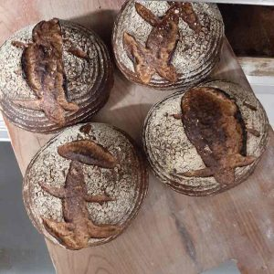 Flour Water Salt Spelt, apple, pecan, raisin, honey sourdough